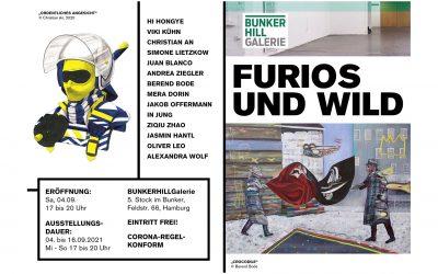 """BUNKERHILLGalerie – Einladung zur Vernissage """"FURIOS UND WILD"""" am 4.9."""